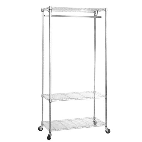 Clothes Racks On Wheels by Chrome Clothes Rack With Wheels 900mm Wide 3 Shelves