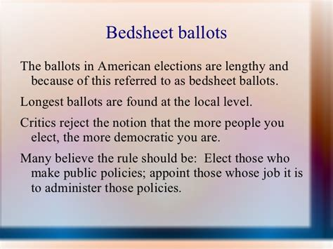 Chapter 7 Section 2 Elections by Chapter 7 Section 2
