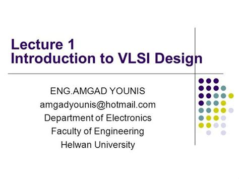 powerpoint templates for vlsi vlsi introduction to vlsi design lecture01 authorstream
