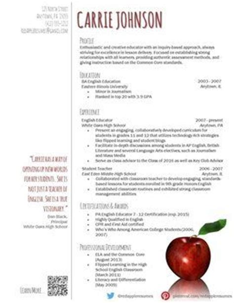 creative teacher resume reflection template teaching