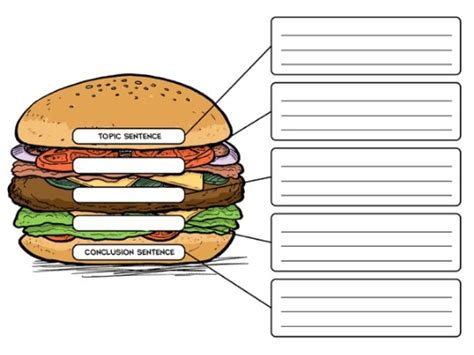 burger writing template the hamburger a writing lesson on creating