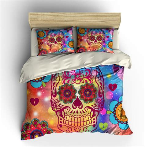 day of the dead bed set skull bedding day of the dead duvet comforter cover