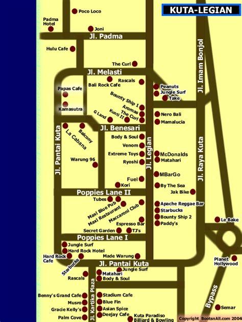 rabasta resort kuta map map of kuta legian bali