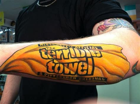 steelers tattoo towels and tattoos and on