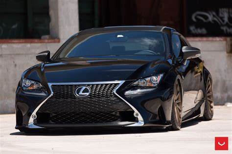 bagged lexus rc lexus rc f sport bagging treatment from vossen wheels