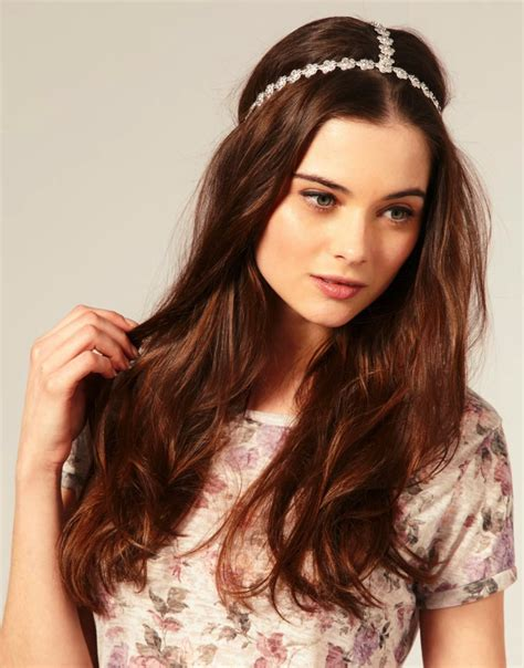 headband hairstyles with hair down all down wedding hairstyle with embellished bridal