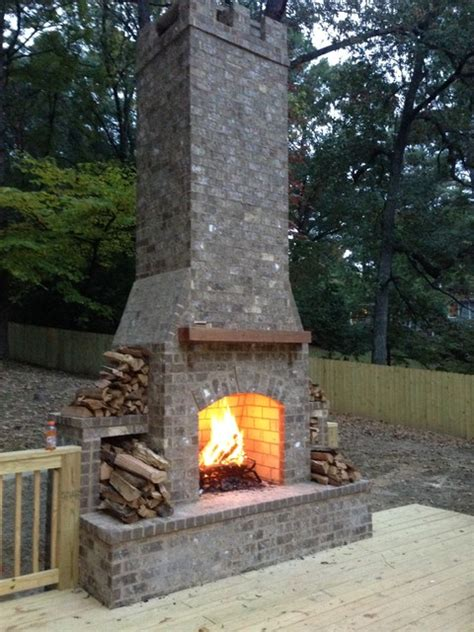 Backyard Chimney by Outdoor Chimney On A Back Deck Traditional Deck
