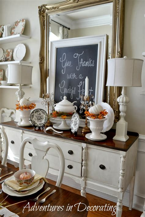 Dining Room Buffet Decorating Ideas by Adventures In Decorating Fall Around The Dining Room