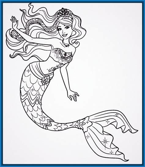 imagenes de sirenas faciles para dibujar dibujos para pintar a barbie archivos dibujos para dibujar