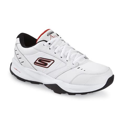 sears mens athletic shoes skechers s go ace athletic shoe white