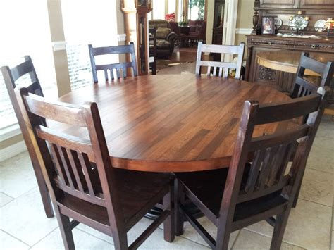 hand  hand crafted   plank top dining table