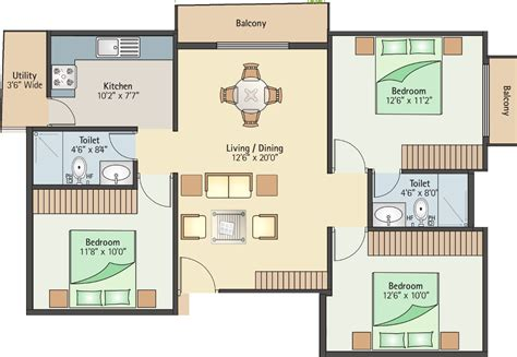 1200 Sq Ft 3 Bhk 2t Apartment For Sale In Bhumika Builders 1200 Square Foot Stilt House Plans