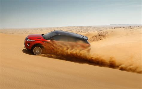 land rover desert desert racer range rover evoque put through its paces
