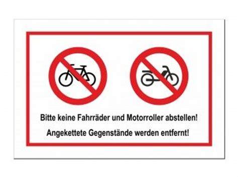 Aufkleber Keine Werbung Erlaubt by Bitte Keine Fahrr 228 Der Und Motorroller Abstellen