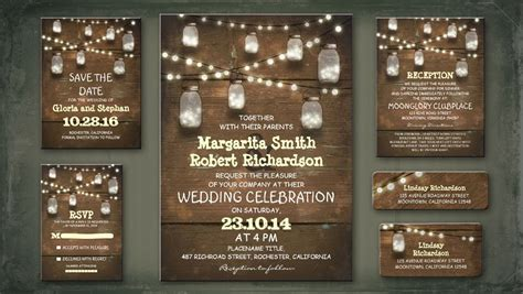 How To Decorate A Home On A Low Budget by Read More Rustic Wedding Invitation With String Lights