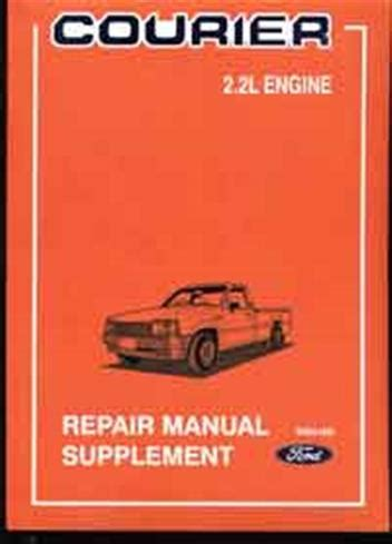 car repair manual download 1987 ford courier on board diagnostic system ford courier pd 2 2 litre 1987 1988 factory repair manual supplement ford australia