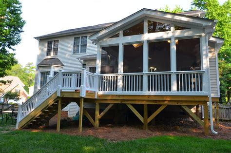 Deck over screened porch.   Screened Patio   Pinterest
