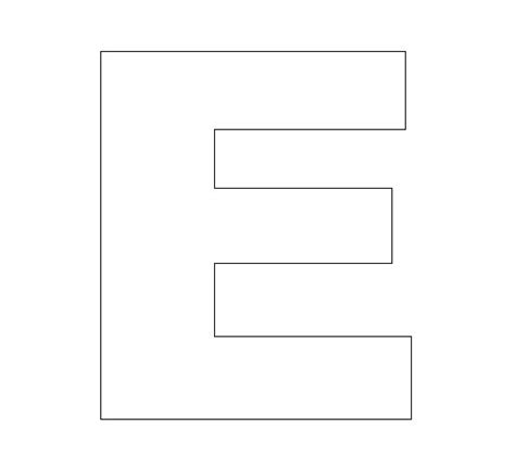 E Template alphabet felt board craft crafts print your letter e