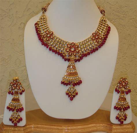 jewelry design of punjab designer gold necklace set in patiala punjab india