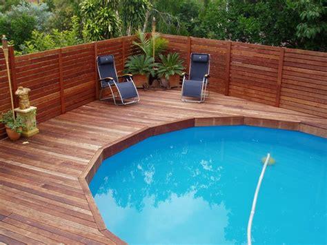 ground pool deck plans kwila deck built ontop