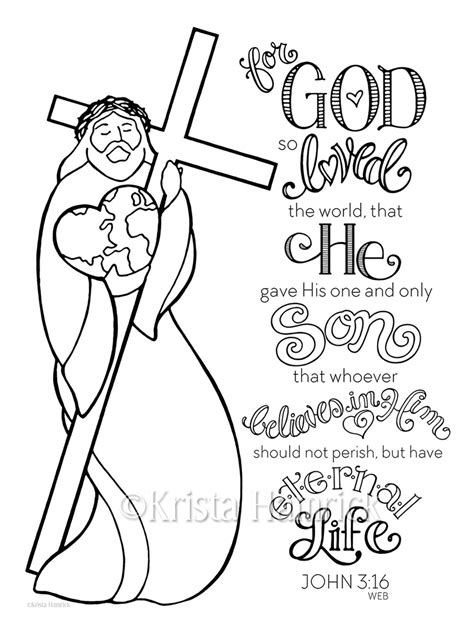 for god so loved the world coloring page coloring pages