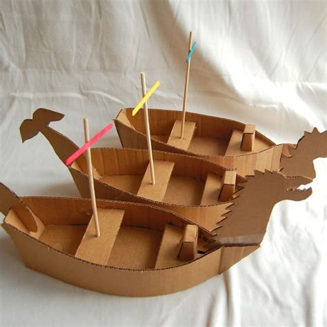 How To Make Paper House Boat - cardboard box ships ted s