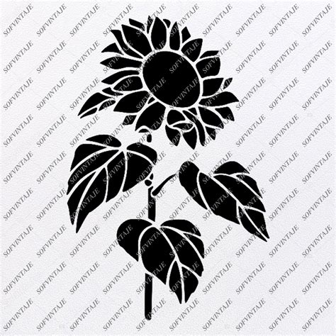 sunflower svg file flower  love original svg design