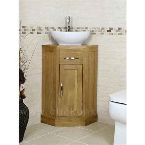small compact oak bathroom vanity unit click oak