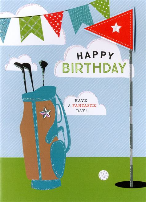 anniversary card golf template happy birthday golf greeting card second nature yours