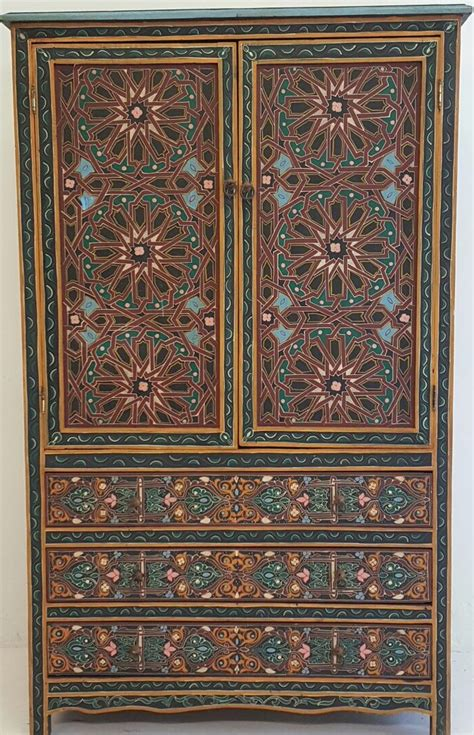 Painted Armoire by Moroccan Painted Armoire