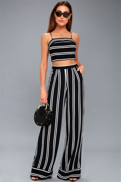 Dress Set Jump chic striped two set striped two jumpsuit