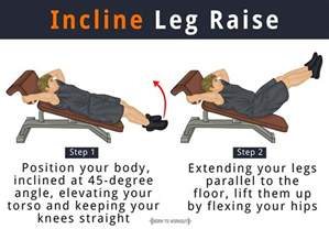 flat bench lying leg raise incline leg raise what is it how to do muscles worked