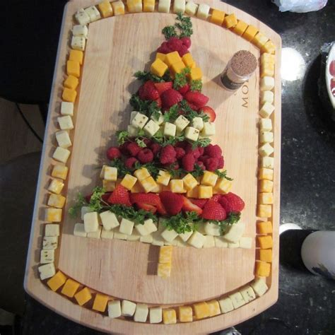 cheese and fruit tree christmas appetizers pinterest
