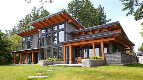 hybrid timber frame home plans a signature west coast contemporary design this modern
