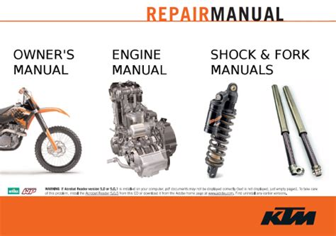 Ktm Repair Manual Official Ktm 450 And 505 Sx F Xc F And Sxs F Repair