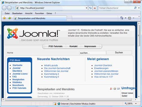 joomla layout design tutorial das standardlayout anpassen teil 1 joomla cms tutorials de