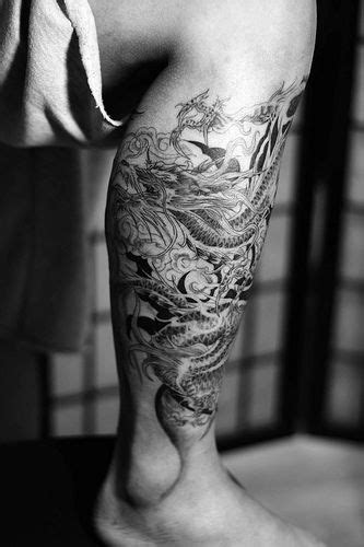 dragon tattoo on leg design 55 best images about tattoos on sleeve