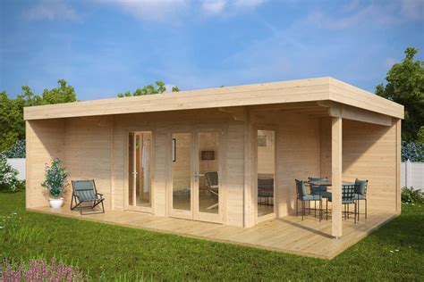 terrasse 6 x 5 summer house with sauna hansa lounge 22m 178 70 mm 8