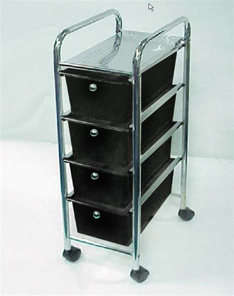 Plastic Rolling Drawers by 3 Tier Metal Frame White Plastic Drawer Rolling Trolley