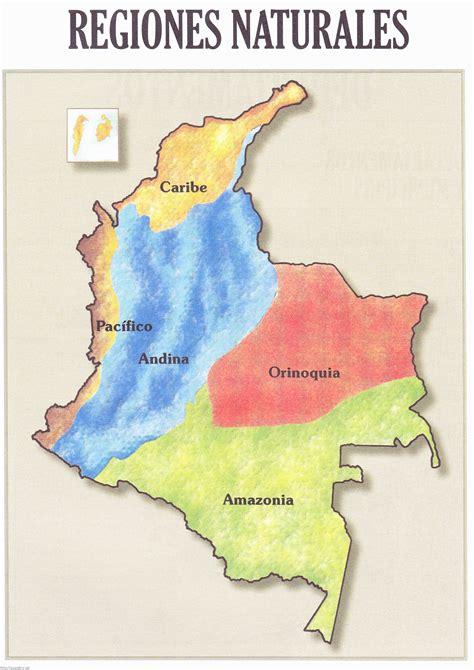 Imagenes Regiones Naturales De Colombia | mapa de las regiones naturales de colombia atlas geografico