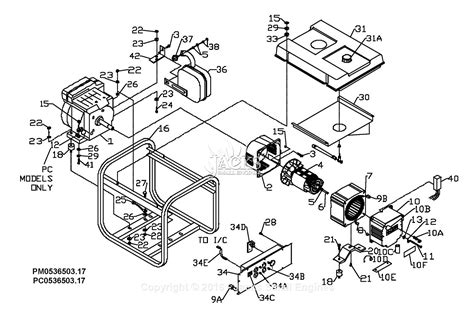 coleman powermate pro 5000 generator wiring diagrams