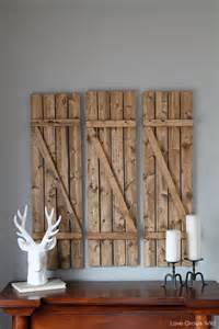 Barn Wood Home Decor Rustic Diy Barn Wood Shutters Shelterness