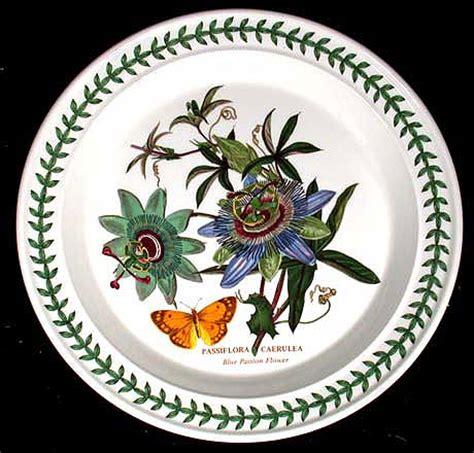 Portmeirion Botanic Garden Dinner Plate Passion Flower Portmeirion China Botanic Garden