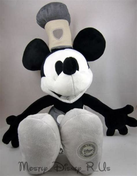 steamboat willie plush new disney steamboat wille mickey mouse 18 quot plush doll ebay