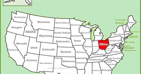 usa map ohio map of ohio state map of usa