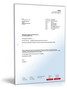 Musterbrief Reklamation Telefonrechnung Widerspruch Einer Rechnung Musterbrief Zum