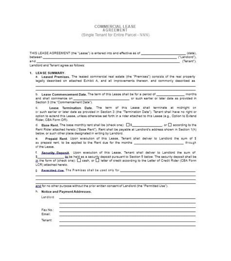 Lease Modification Letter Commercial Lease Agreement Template 14 Template Lab