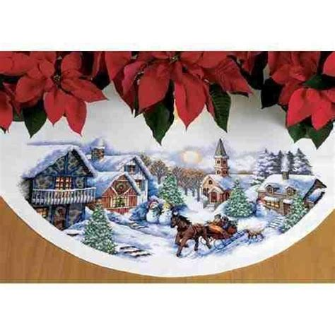 cross stitch tree skirt ebay