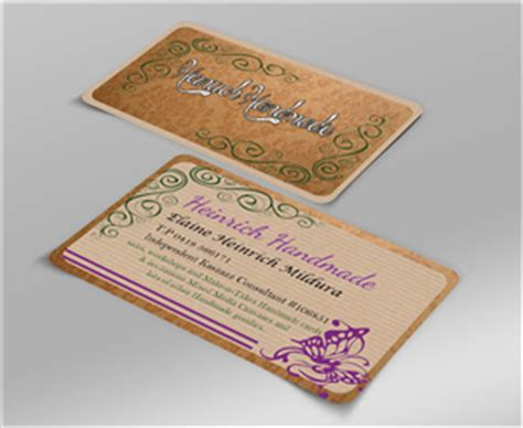 Business Cards For Handmade Crafts - personal business cards personal business card design at