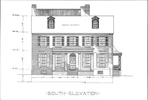 mt vernon architectural drawing with floor plan of national park service southern new jersey and the